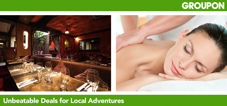 Groupon runs a different deal every day from vouchers for spas and restaurants to deals on leisure, travel, beauty and sport. Each day we feature a great deal at an unbeatable price up to 70% off!