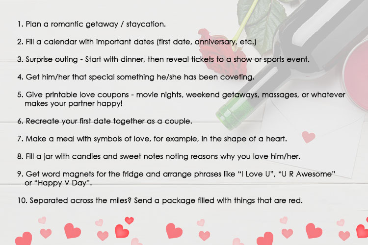 10 Romantic Ways to surprise your partner this Valentine's Day