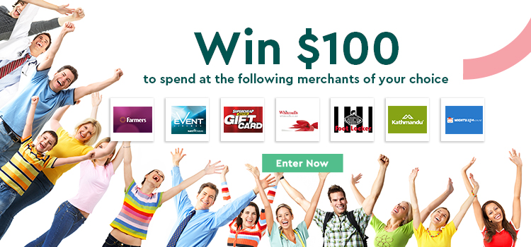 Win to spend $100, Enter Now